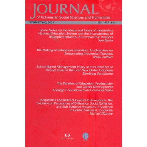Journal of Indonesian Social Sciences and Humanities (JISSH