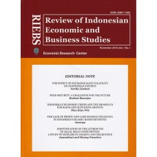 RIEBS (Review of Indonesian Economic and Business Studies) November 2010 Vol.1 No.1