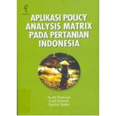 Aplikasi Policy Analysis Matrix pada Pertanian