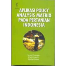 Applications of the Policy Analysis Matrix in Indonesia Agriculture